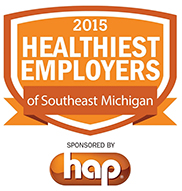 2015 healthiest employers of southeast Michigan. Sponsored by HAP
