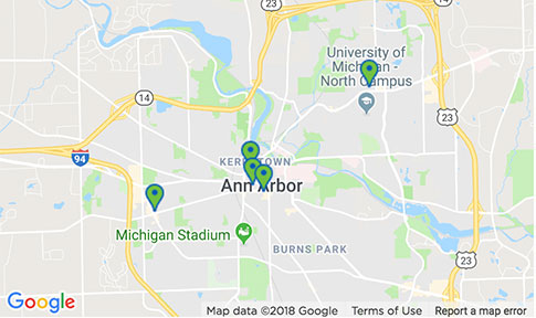 Ann Arbor locations
